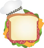 Chef Sandwich Stock Photography