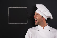 Chef saying something Royalty Free Stock Images