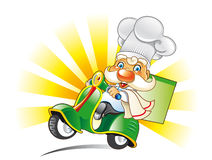 Chef in scooter Stock Photos
