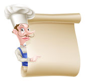Chef Scroll Stock Photo