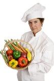 Chef-Serie - ernste Nahrung Stockfoto