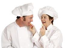 Chef-Serie - gesundes Essen lizenzfreies stockfoto