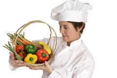 Chef Series - Inspecting Vegetables Royalty Free Stock Photography