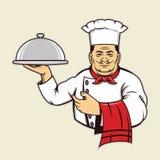 Chef serve food Stock Photos
