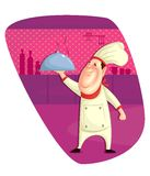 Chef serving dish Stock Image