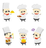 Chef set group Stock Photo