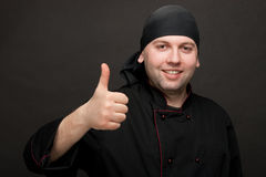 Chef  showing thumbs up Stock Image
