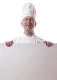 Chef side peep Stock Photo