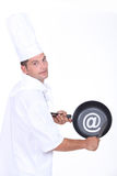 Chef with an @ sign Stock Images