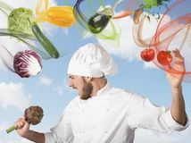Chef sings stock illustration