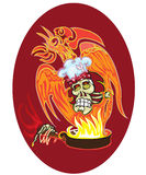 Chef - skull Stock Images