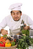 Chef smelling Royalty Free Stock Images