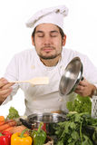 Chef smelling Stock Image