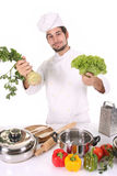 Chef smelling Stock Images