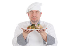Chef smelling Stock Photos