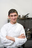 Chef smiles into camera Stock Image