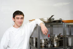 Chef smiles into camera Royalty Free Stock Photos