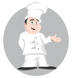 Chef smiling Stock Images