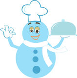 Chef snowman Royalty Free Stock Photo