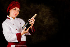 Chef Somelier - Christmas Stock Photography