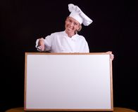 Chef daily special Royalty Free Stock Photography