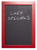 Chef specials Royalty Free Stock Images