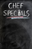 Chef specials Stock Photography