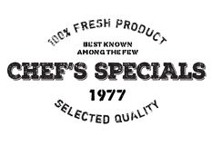Chef specials stamp Stock Image