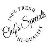 Chef specials stamp Royalty Free Stock Image