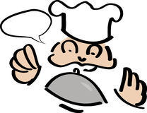 Chef with speech bubble Stock Images