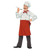 Chef with spoon Royalty Free Stock Images