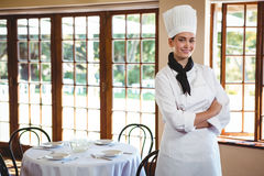 Chef standing with arms crossed Royalty Free Stock Image
