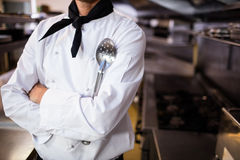 Chef standing with a spatula Stock Images