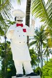 Chef statue Royalty Free Stock Images