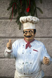 Chef statue. Statue of a chef who says everything is ok Royalty Free Stock Images