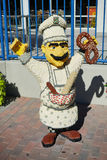 A chef statue made by lego Stock Photo