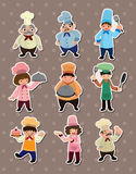 Chef stickers vector illustration