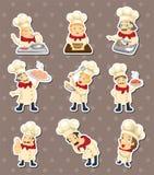 Chef stickers Stock Photos