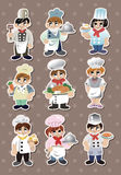 Chef stickers Stock Photo