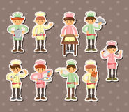 Chef stickers Royalty Free Stock Photos
