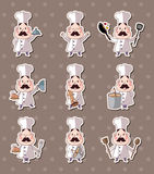 Chef stickers Royalty Free Stock Images