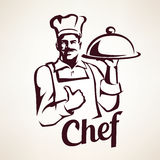 Chef stylized vector portrait Stock Image