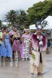 Chef sur le cuisinier Island Rarotonga Photos stock