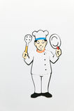 Chef symbol. Chef symbol on the wall Stock Photos