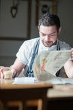 Chef taking a break royalty free stock photo