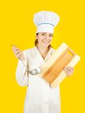 Chef  tasting from ladle Stock Photos