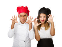 Chef team aggressive Royalty Free Stock Photo