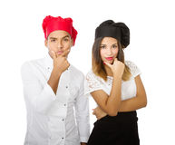 Chef team brain storming. Person emotions and expressions portrait royalty free stock photography