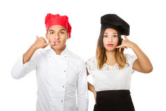 Chef team concept of reservation Stock Photos