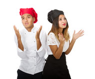 Chef team fired and desperate Stock Images